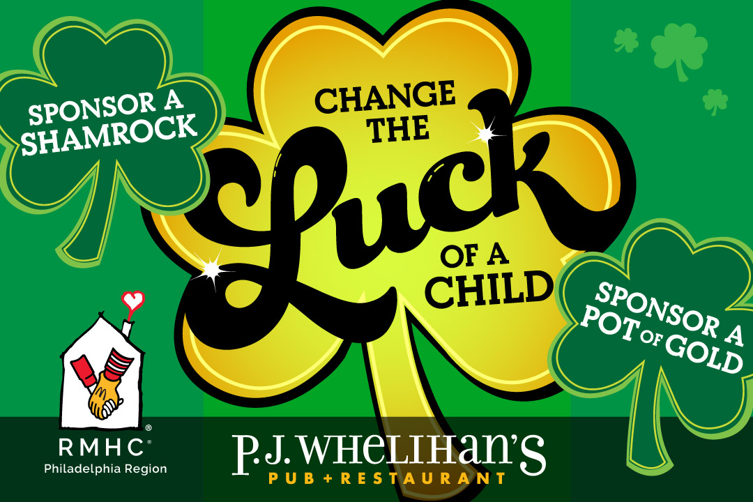 Change the Luck of a Child by Sponsoring a Shamrock or a Pot of Gold