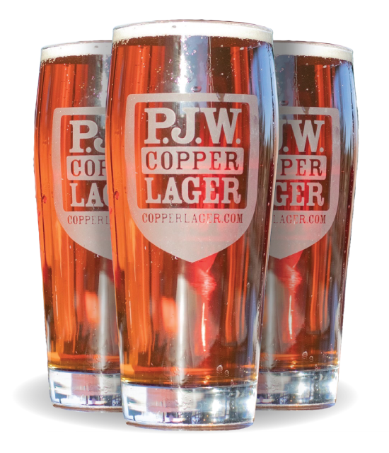 PJW Copper Lager Pints