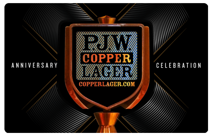 P.J.W. Copper Lager - Celebrating our Tenth Anniversary, Pour X More