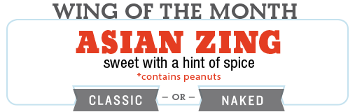 PJ's Wing of the Month : Asian Zing